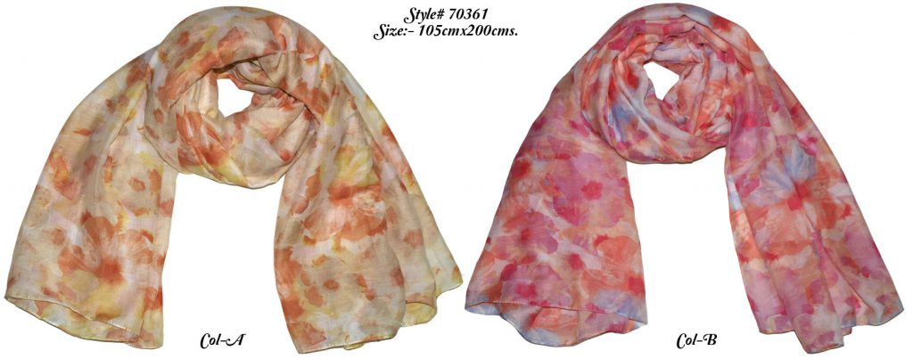 POLYESTER PRINTED SARONG WITH ALL SIDES STITCHED For WOMENS