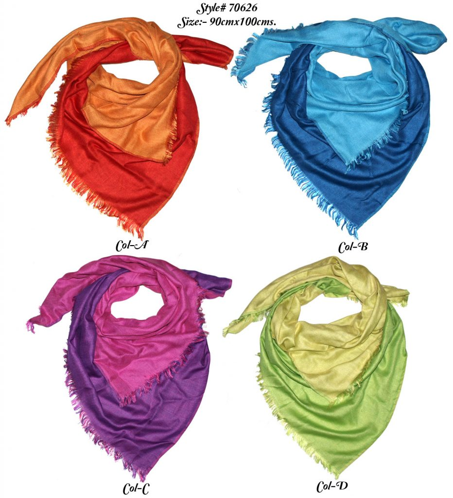 TIE DYE SQAURE SCARF IN SOFT VISCOSE FABRIC WITH ALL SIDES EYELASH FRINGES