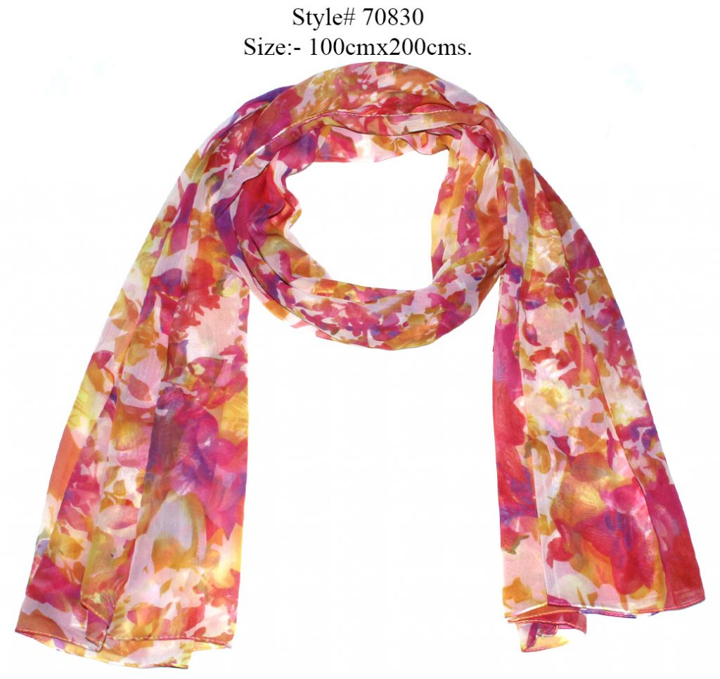 ALL OVER LOVELY FLORAL DESIGN PRINTED SARONG WITH ALL SIDES STITCHED FOR WOMENS