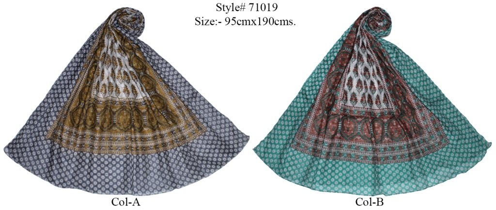 ALL OVER LOVELY MOTIF PRINTED SARONG WITH ALL SIDES STITCHED FOR WOMENS
