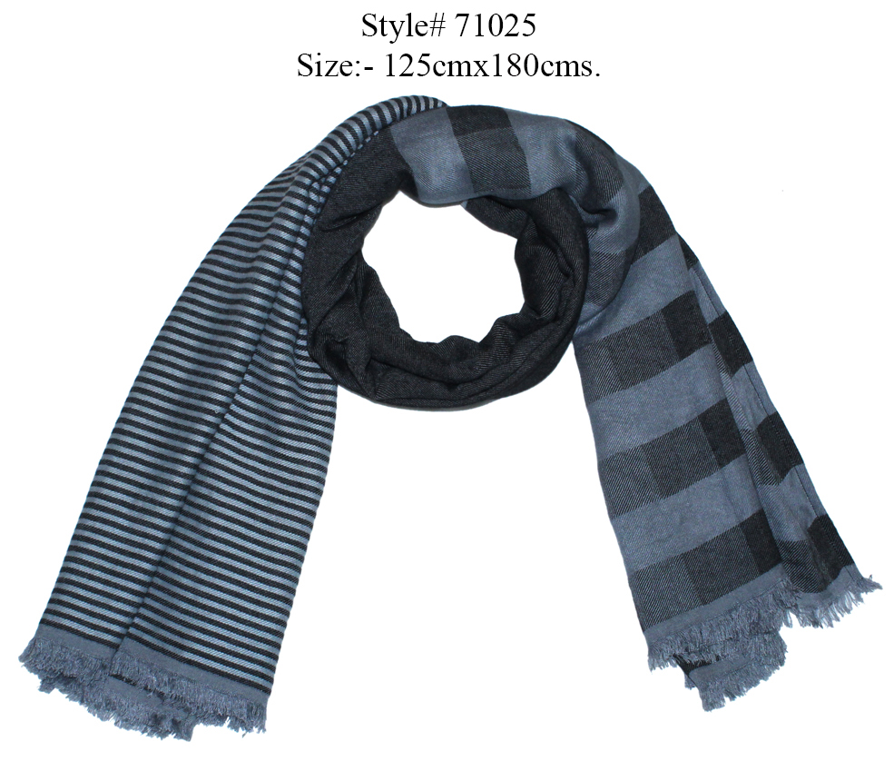 YARN DYED STOLE IN SOFT MODAL, POLYESTER WITH EYELASH  FRINGES