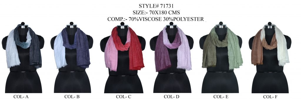 TIE DYE STOLE IN SOFT VISCOSE,POLYESTER SLUB FABRIC WITH EYELASH FRINGES