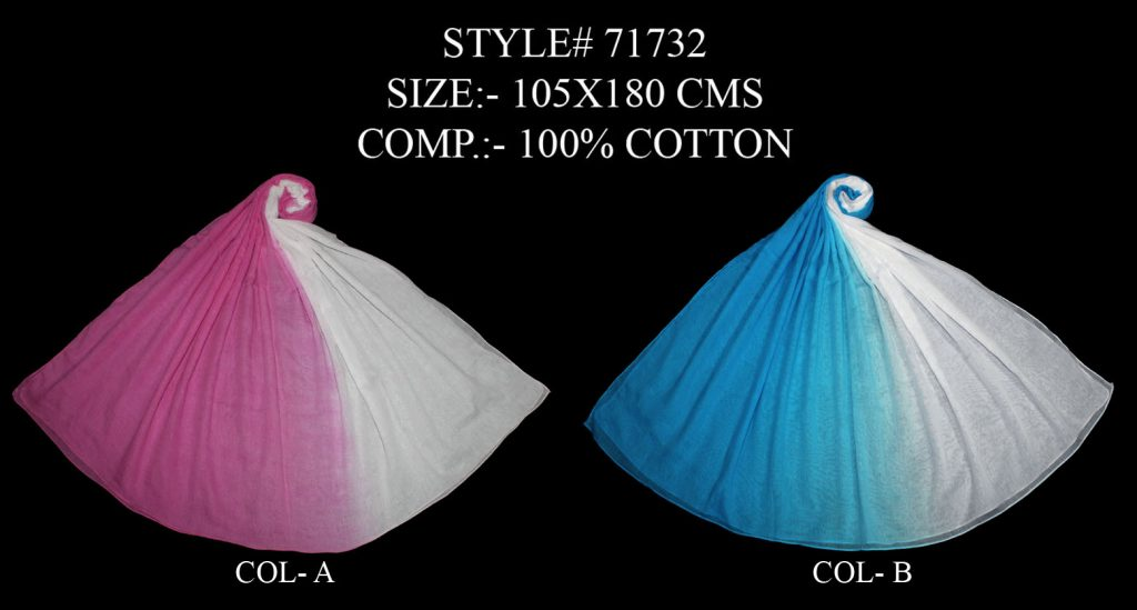 TIE DYE STOLE IN SOFT COTTON FABRIC WITH ALL SIDES STITCHED