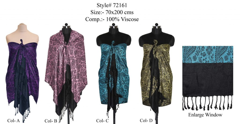SHAWL IN SOFT VISCOSE MATERIAL WITH AN EYE-CATCHING DESIGN AND FRINGES WIDEST SELECTION OF UNIQUE AL