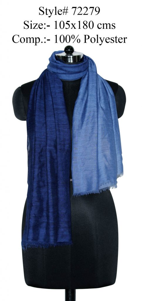 TIE DYE SCARF IN SOFT POLYESTER FABRIC WITH  EYELASH FRINGES