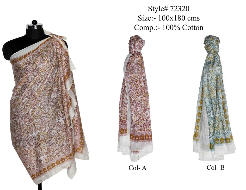 ALL OVER MOTIF DESIGN PRINTED SARONG WITH ALL SIDES STITCHED FOR WOMENS