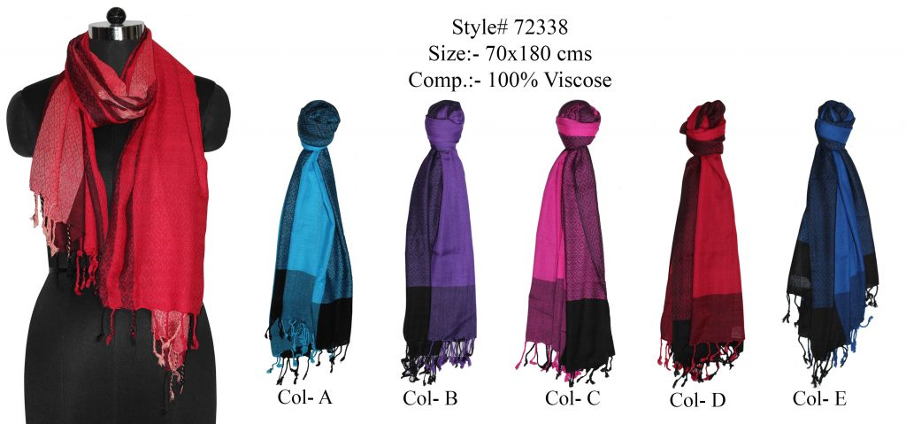 YARN DYED SHAWL IN SOFT VISCOSE FABRIC WITH STYLISH PASHMINA KNOT FRINGES FOR MENS AND WOMENS