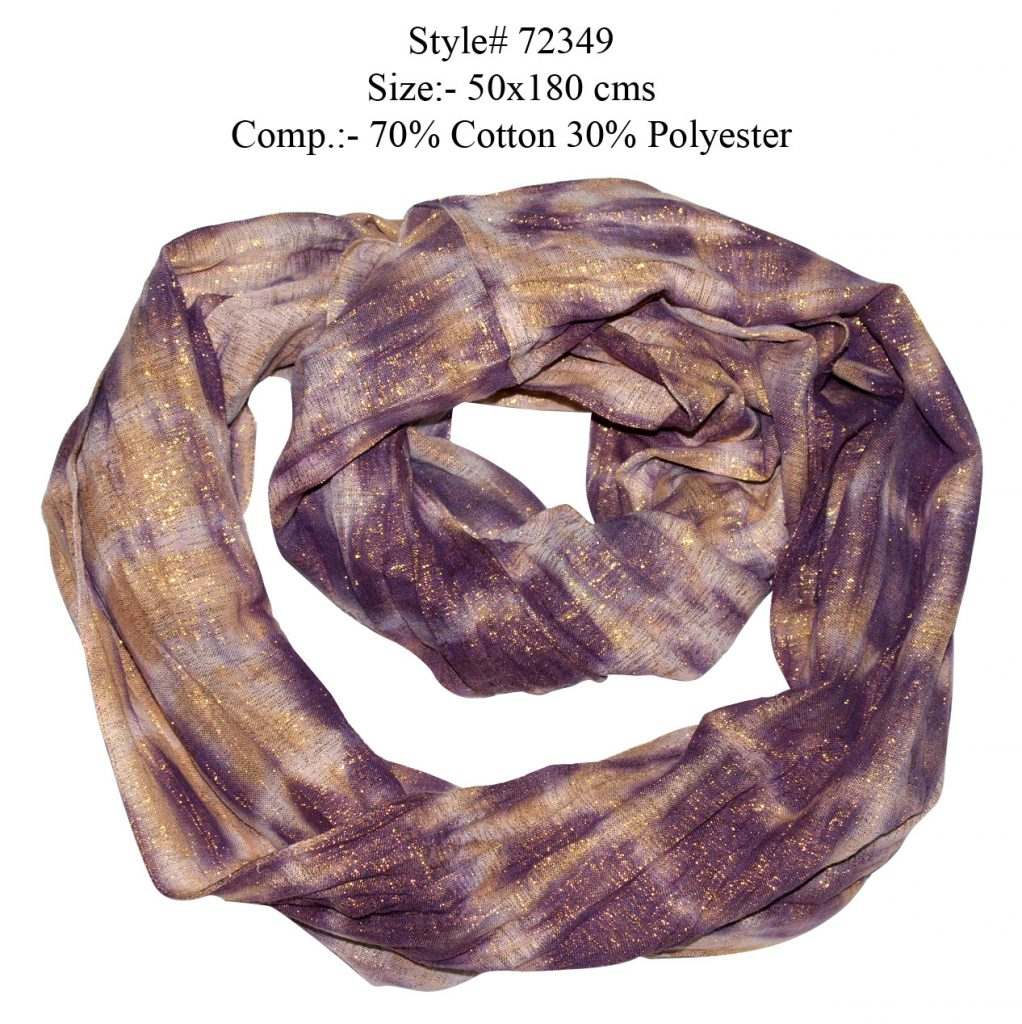 TIE DYE SNOOD/ INFINITY SCARF IN SOFT COTTON, POLYESTER FABRIC