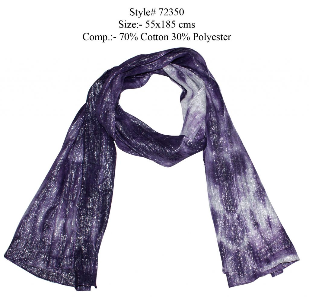 TIE-DYE STOLE IN SOFT COTTON POLYESTER FABRIC WITH ALL SIDEES STITCHED