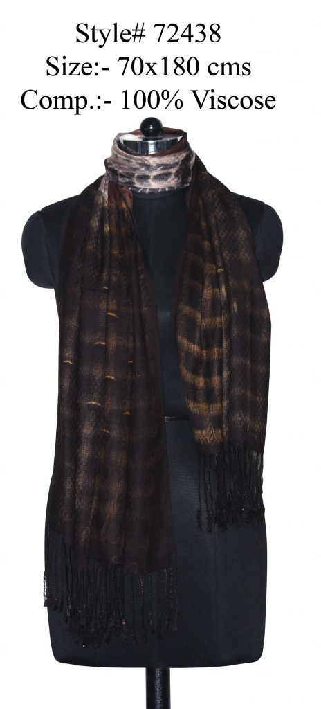 TIE-DYE STOLE IN SOFT VISCOSE FABRIC WITH TWILL KNOT FRINGES