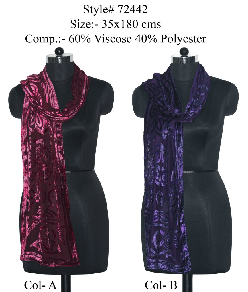 FLORAL PRINTED STOLE IN VISOCSE,POLYESTER FABRIC