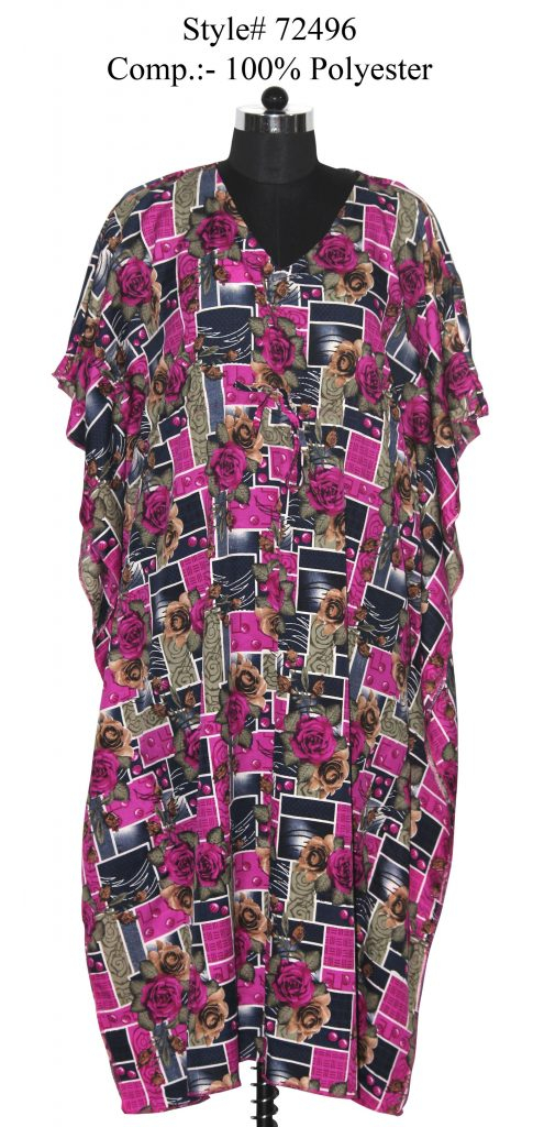 DIGITAL PRINTED KAFTAN WITH DORI ATTACHED ON WAIST  FOR WOMENS