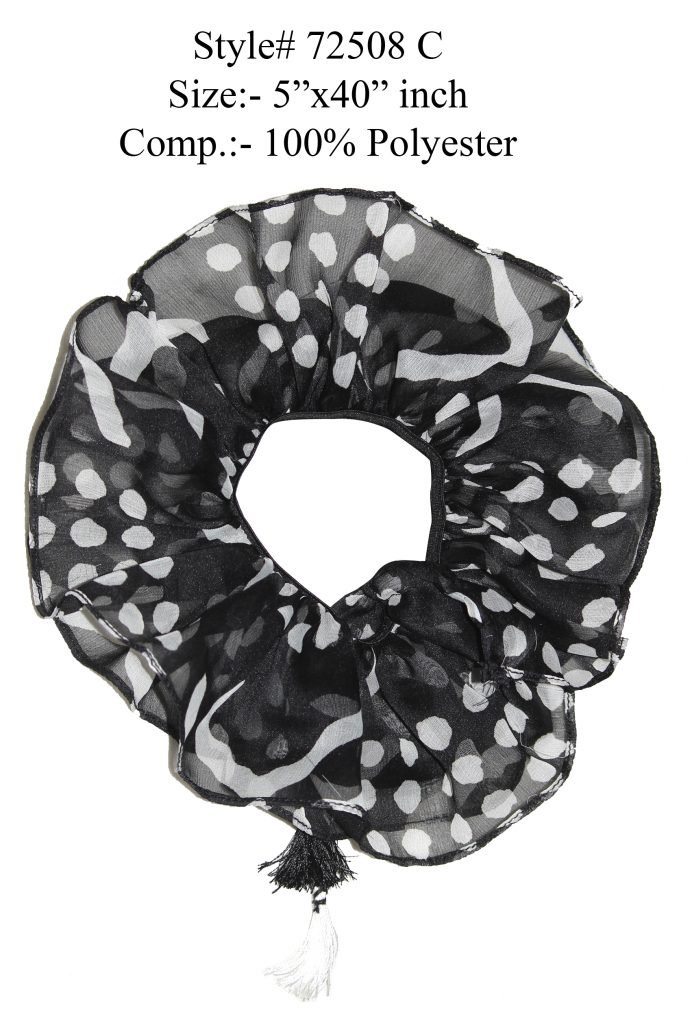 BLACK/WHITE COLORED HAIR BAND,SCRUNCHIE